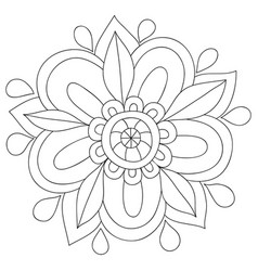 A children coloring bookpage a cartoon flower vector