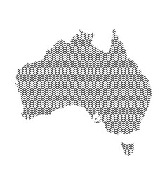 abstract australia country silhouette of wavy vector image