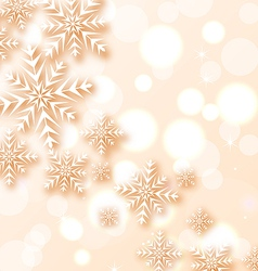 Abstract Christmas light background with snowflake vector image