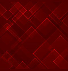 Abstract red square shape technology laser vector