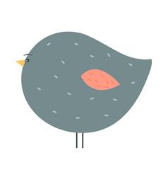 Adorable chubby gray bird vector