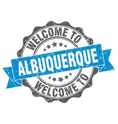 Albuquerque round ribbon seal vector