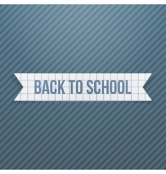 Back to School greeting Text on paper Badge vector