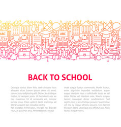 back to school line design template vector image