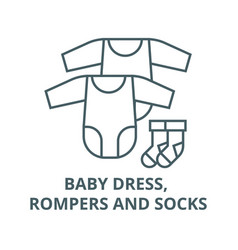 badress rompers and socks line icon vector image
