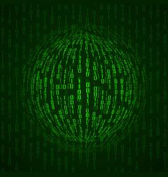Ball of binary code abstract technology vector