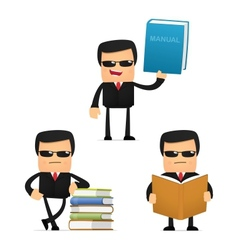 Bodyguard with books vector
