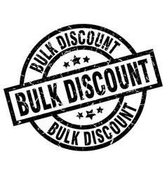 Bulk discount round grunge black stamp vector