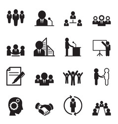 Business idea concept icons vector