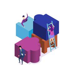 business team metaphor vector image