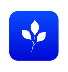 cherry leaves icon digital blue vector image