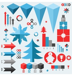 Christmas Set of infographics elements vector