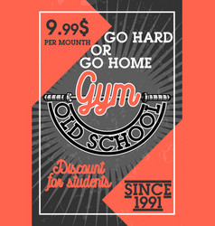 color vintage gym banner vector image