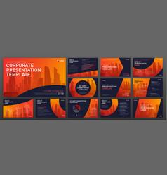 Corporate presentation templates set vector