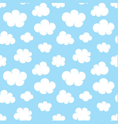 Cute baby seamless pattern with blue sky with vector