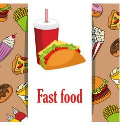 delicious fast food menu vector image