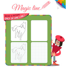 draw a picture only of one horse vector image