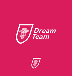 Dream team logo business team emblem d t vector