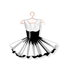 dress with a lush skirt on the hanger vector image