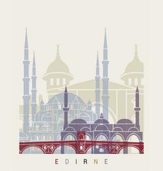 Edirne skyline poster vector