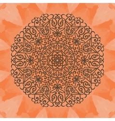 Elegant mandala-like pattern on red seamless vector