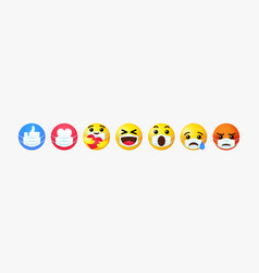 emoji reactions 3d set with guard mouth mask vector image