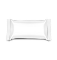Flow pillow pack isolated on white background vector
