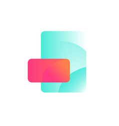 format icon layout design gradient flat style vector image