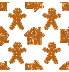 Gingerbread Cookies seamless vector image