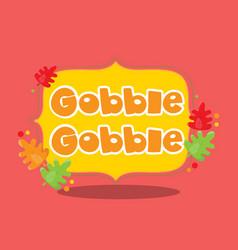 Gobble word 01 vector