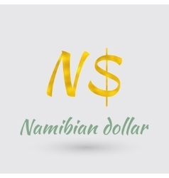 Golden Symbol of the Namibian dollar vector