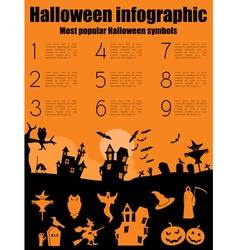 Halloween infographic design vector