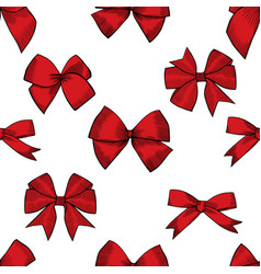 Hand drawn bows seamless pattern vector