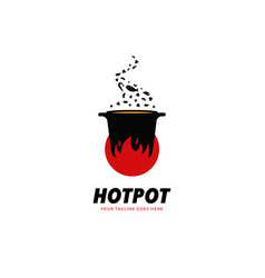 hot pot kitchen and catering restaurant soul food vector image