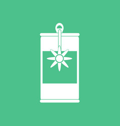 Icon canned food can opener vector