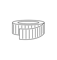 icon of measure tape vector image
