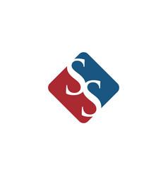Initial ss letter logo vector