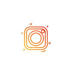 Instagram icon design vector