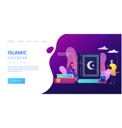 islam concept landing page vector image