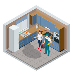 isometric repairman or mechanic with a toolbox vector image
