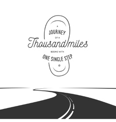 journey a thousand miles typographic poster vector image