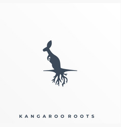 kangaroo roots template vector image