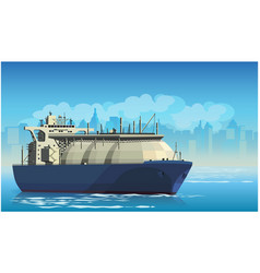 Liquefied natural gas tanker vector