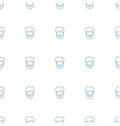 Man hairstyle icon pattern seamless white vector
