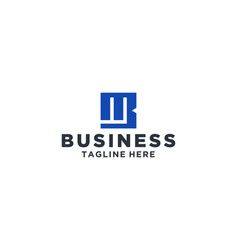 mb square logo design inspiration vector image