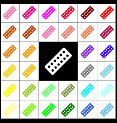 medical pills sign felt-pen 33 colorful vector image
