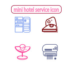 Mini hotel services icons vector