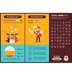 Mobility flat design Infographic Template vector image