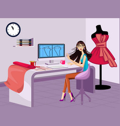 modern fashion designer vector image