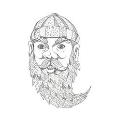 paul bunyan lumberjack doodle art vector image